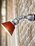 GOUD Wandleuchte Vintage-Design-Rohr-Wandleuchte, ein Licht mit Led Lampe, Bügeleisen Malerei , 220-240v