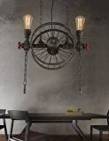 ZHYAmerican Bar Bügeleisen Rad Kronleuchter Beleuchtung Anhänger deckenleuchten hängeleuchten , warmes Weiß