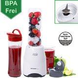 28.000 U/min Smoothie Maker 0,4 PS - BPA Frei und Spülmaschinenfeste Behälter - Standmixer, Smoothiemaker