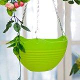 heartogheter Kunstharz zum Aufhängen bracketplant Blumentöpfe ausgestattet mit Bügeleisen Kette zum Aufhängen Blumentopf für Home Decor 3/lot MIX Farbe & # xff08; kann Wasser Speicherung und # xff09;, Kunstharz, grün, 21*21*21cm