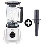 Bianco di puro pri-wh primo weiß Hochleistungs-Mixer/Standmixer + Stampfer (Smoothie Maker mit 28000 Umdrehungen/min. 1200 Watt)