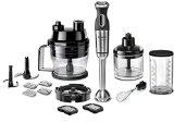 Bosch MSM881X2 Stabmixer-Set (800 W, Würfelschneider, 12 Geschwindigkeiten, Edelstahl-Mixfuß, umfangreiches Zubehör), schwarz / edelstahl gebürstet