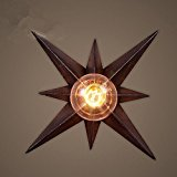 MINGMING-Retro Nachttischlampe Schlafzimmer Diele Treppe 300mm kreative Wohnzimmer kunst Sterne Wandleuchte Industrie Bügeleisen