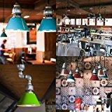 Generisches Kunst Kronleuchter, Creative Light,Vintage Pipe Design Pendelleuchten Pendelleuchten Pendelleuchten led beleuchtung, 1 Licht mit LED-Lampe, Bügeleisen. , 115V-Blau,Komfort Beleuchtung #D5