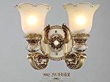 midtawer Kurz gesagt: Die OSZE-Harz retro Bügeleisen Wohnzimmer Wand Lampen ,9902-2W-TV an der Wand Dual Head Wandleuchten