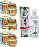 3 schön of Tiger Balm White Ointment 30 GM/Jar + Kwan Loong Medicated Oil 57 ml (Largest Size.)
