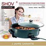 Elektrische Pfanne Pizzapfanne Partypfanne Elektropfanne Bratpfanne Ø 42/9cm