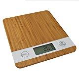 Smart Weigh Bambus Digitale Küchenwaage mit Tara-Funktion