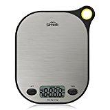 SIMBR Waage Küchenwaage mit Aufhänger und Tara-Funktion hohe Präzision von 2g bis 5kg inkl. Batterie