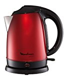 Moulinex BY5305 Wasserkocher Subito 1.7 l, 2400 Watt, metallic-rot