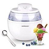 Eismaschine Ice Cream Maker Speiseeisbereiter Speiseeismaschine Frozen Yoghurt Maschine 3 in 1 0.6 Liter Weiß