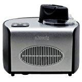 H.Koenig HF250 Eismaschine/Kapazität 1,5 L / 8 Portionen/Kalthaltefunktion / Touchpad-Bedienung / 150 W/Edelstahl / schwarz