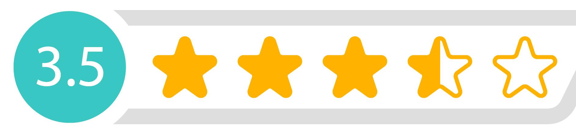 3,5 Sterne Bewertung