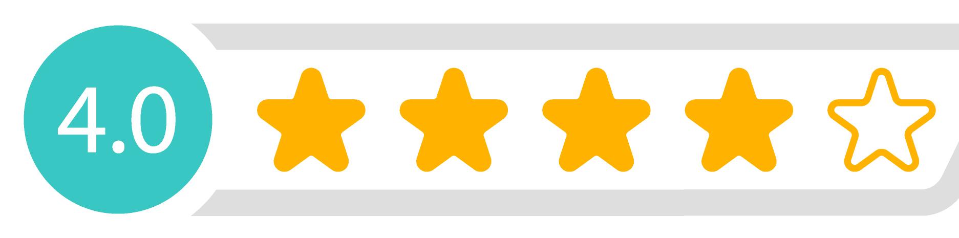 4,0 Sterne Bewertung